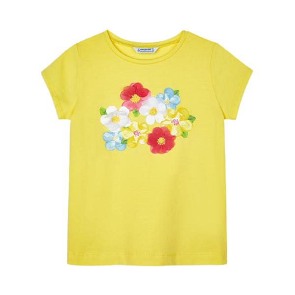 Mayoral Παιδική Μπλούζα Κοντομάνικη Μεταξοτυπία Κορίτσι , Κίτρινη