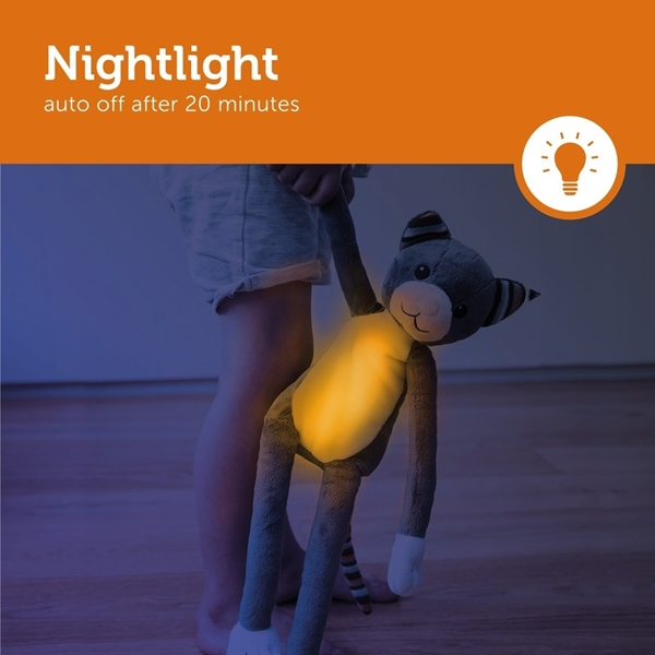 Zazu Katie Γατούλα Ύπνου Νηπίων με Φωτάκι Νυκτός, Λευκούς Ήχους & Μελωδία