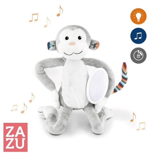 Zazu Max Μαιμουδάκι Ύπνου Νηπίων με Φωτάκι Νυκτός, Λευκούς Ήχους & Μελωδία