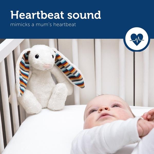 Zazu Bibi Λαγουδάκι Ύπνου Νηπίων με Χτύπους Καρδιάς & Λευκούς Ήχους