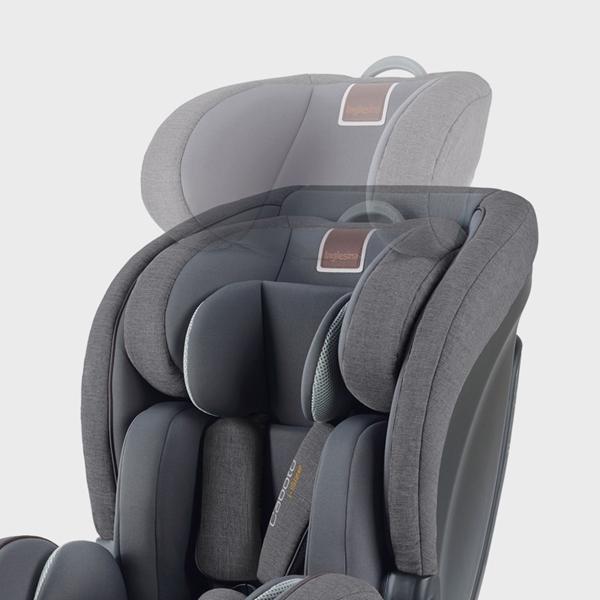 Inglesina Κάθισμα Αυτοκινήτου Caboto Grey i-Size 9-36kg Black