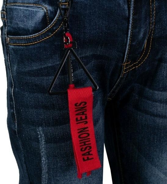 Hashtag Παντελόνι Τζιν Με Μπρελόκ Για Αγόρι, Μπλέ