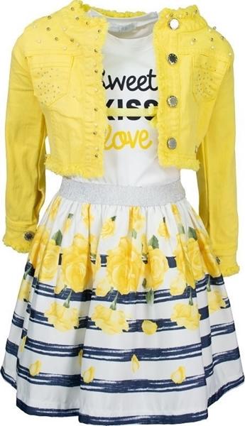 Εβίτα Fashion Σετ 3τμχ Με Φούστα Τριαντάφυλλα, Κίτρινο