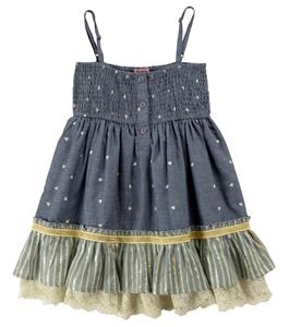 Funky Jean Φόρεμα Με Τιράντα, Μπλέ