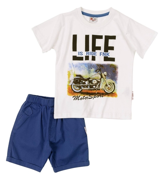 Funky Παιδικό Σετ Υφασμάτινη Βερμούδα Για Αγόρι Life, Ρουά