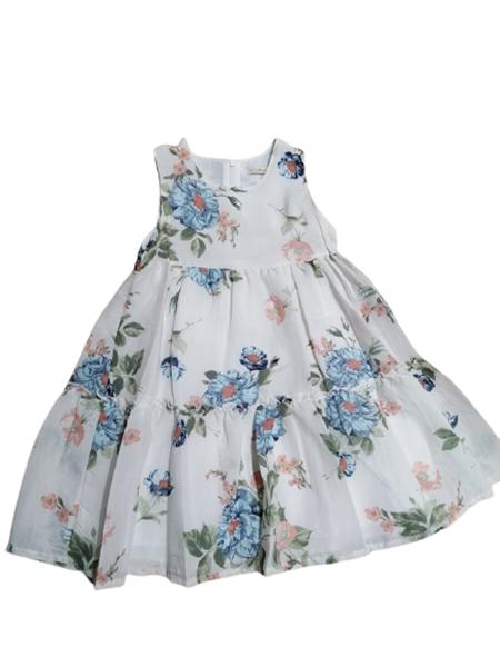 Moonstar Παιδικό Σετ Φόρεμα Με Γιλέκο Τζίν Για Κορίτσι, Λευκό