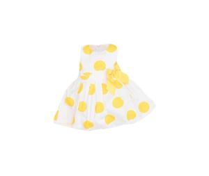 New College Παιδικό Φόρεμα Πουά, Κότρινο