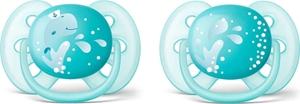 Philips Avent Πιπίλα Ultra Soft Σιλικόνης 6-18m Γαλάζιο Χρώμα, 2τμχ