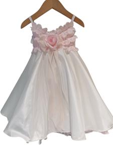 NEONATO Ρομαντικό Αμπιγιέ Φόρεμα Κλος Για Ενός Έτους, Λευκό Ροζ