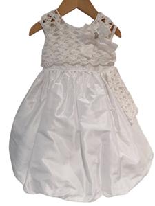 NEONATO Αμπιγιέ Φόρεμα Με Μπολερό Και Σκουφάκι Για Ενός Έτους, Λευκό