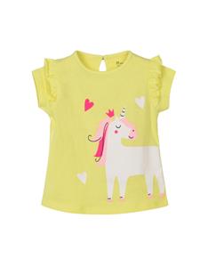 Zippy Bebe Κοντομάνικη Μπλούζα Για Κορίτσι Μονόκερος, Λαχανί