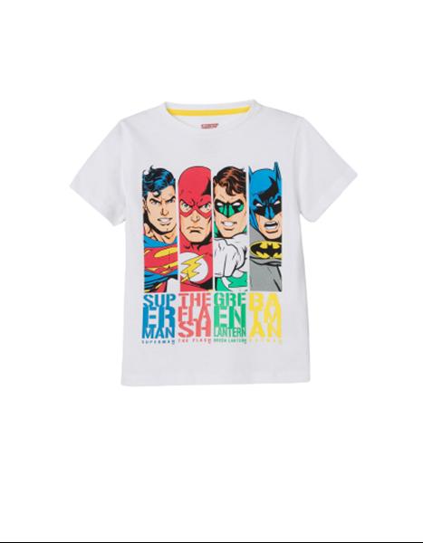 Zippy Παιδική Κοντομάνικη Μπλούζα Heroes, Λευκή