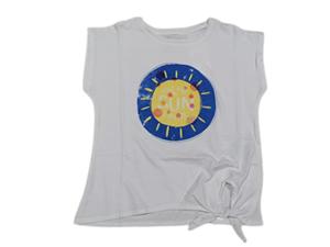 Zippy Παιδική Κοντομάνικη Μπλούζα Για Κορίτσι Sun, Λευκό