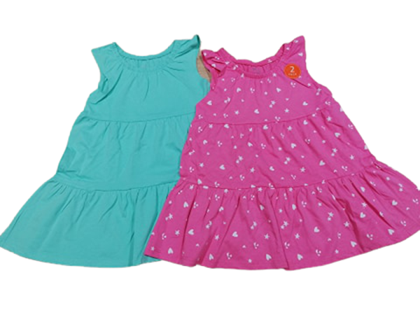 Zippy Παιδικό Σετ 2 τεμ Μακώ Φόρεμα Βολάν, Φούξια Μέντα
