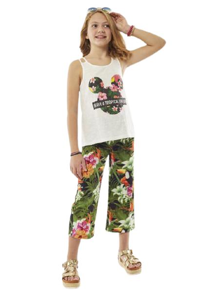Εβίτα Fashion Σετ Παντελόνα Ζιπ και Τοπ Tropical Dream, Εμπριμέ