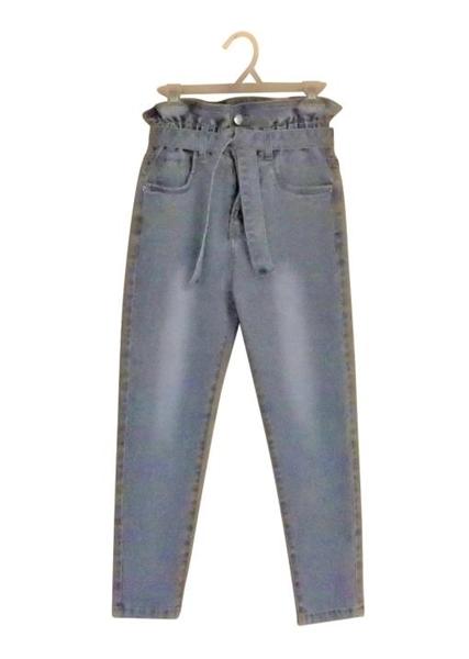 Εβίτα Fashion Παντελόνi Ψιλόμεσο Με Ζώνη, Τζίν