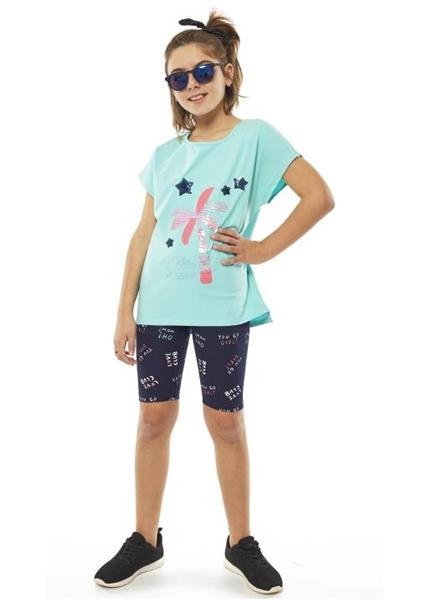 Εβίτα Fashion Σετ Ποδηλατικό, Με Κοντομάνικη Μπλούζα Φοίνικες, Μέντα