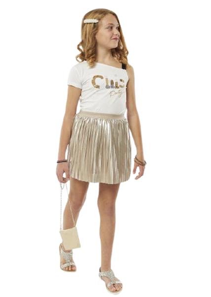 Εβίτα Fashion Σετ Φούστα Με Τοπ Chic, Χρυσό