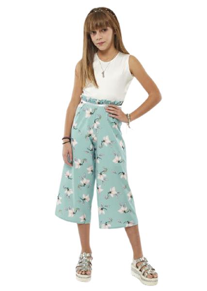 Εβίτα Fashion Υφασμάτινη Ολόσωμη Φόρμα Ζιπ, Μέντα