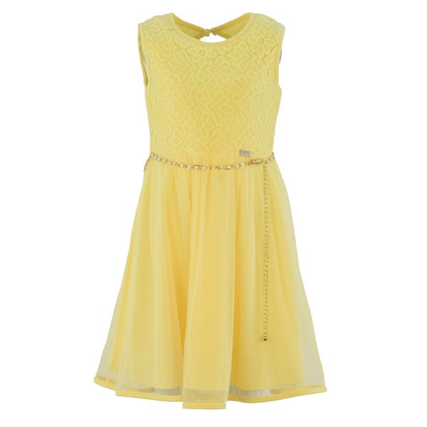 Εβίτα Fashion Φόρεμα Με Ζωνάκι Και Άνοιγμα Στη Πλάτη, Κίτρινο