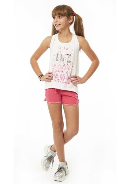 Εβίτα Fashion Σετ Μακώ Σόρτς Με Μπλούζα Παγιέτες Life, Ροζ