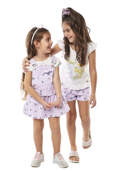 Εβίτα Fashion Σετ Παιδικό Σόρτς, Μπλούζα Και Στέκα, Λιλά
