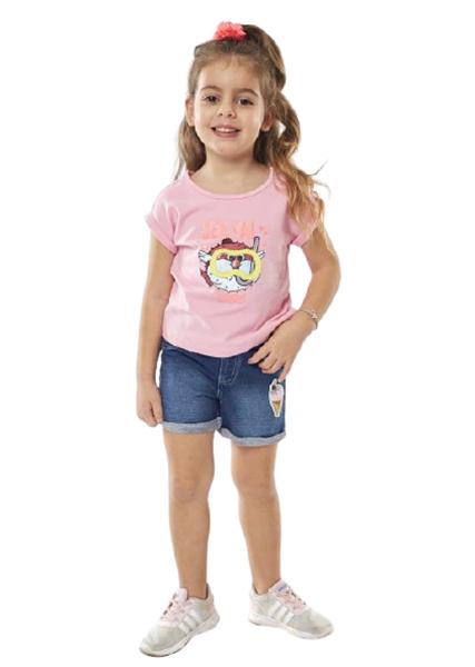 Εβίτα Fashion Σετ Παιδικό Σόρτς, Μπλούζα Υποβρύχιο, Ροζ