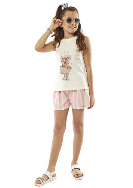 Εβίτα Fashion Σετ Σόρτς Και Μπλούζα, Ροζ