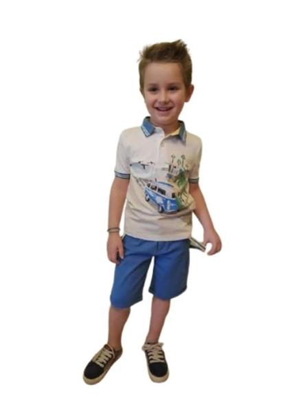 Hashtag Παιδικό Σετ Βερμούδα Μπλούζα Πόλο WV , Ρουά