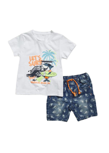 Hashtag Παιδικό Σετ Βερμούδα Μπλούζα Καρχαρίας, Τζιν