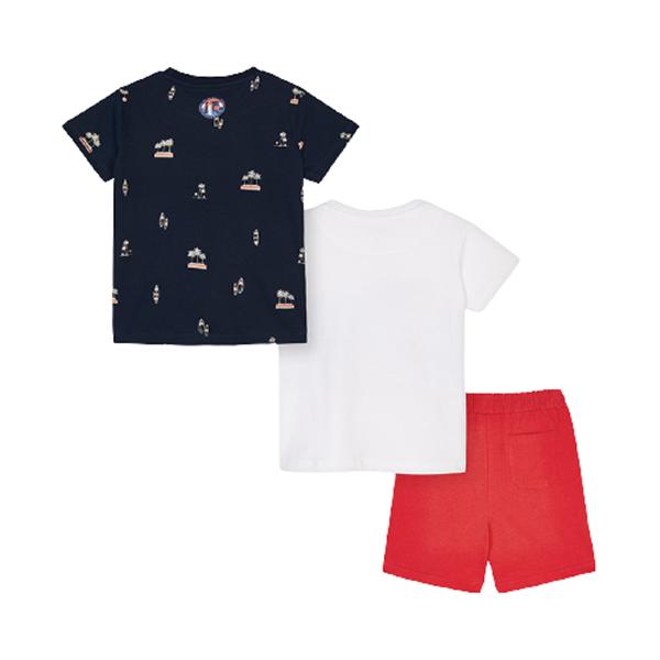 Mayoral Παιδικό Σετ 2 Μπλούζες και Μακώ Βερμπούδα Surf Για Αγόρι, Κόκκινο