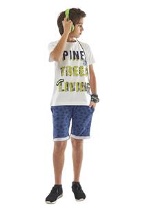 Hashtag Σετ Μπλούζα Και Μακώ Βερμούδα Με Γύρω Λάστιχο Pine, Λευκό