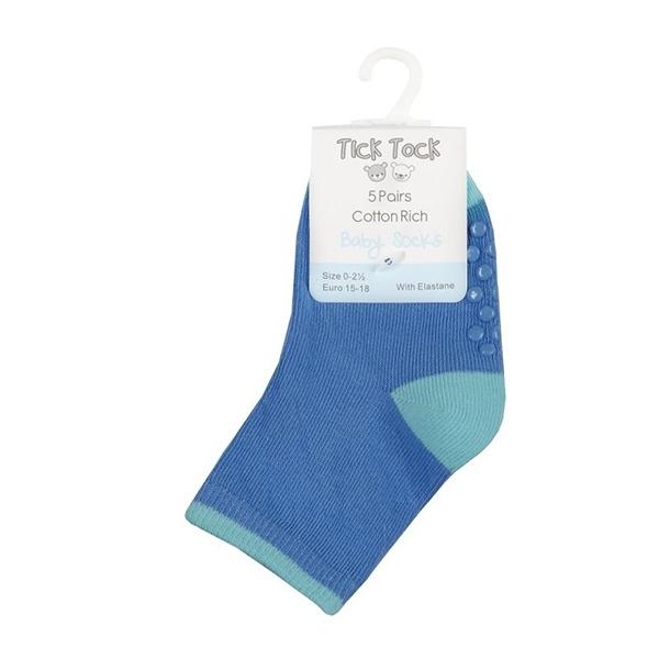 Soft Touch Bebe Σετ 5 Τεμαχίων Αντιολησθητικές Κάλτσες Για Αγόρια, Μπλέ