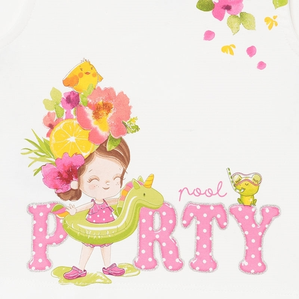 Mayoral Bebe Σετ Σορτς Μπλούζα Party Για Νεογέννητο Κορίτσι Πουά, Φούξια