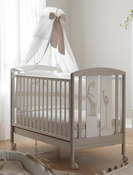 Pali Παιδικό Kρεβατάκι Savana Bianco/Tortora