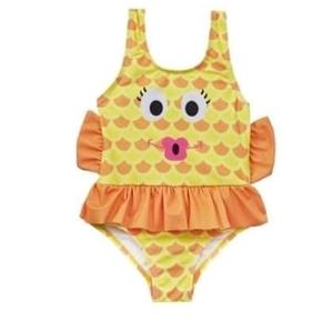Soft Touch Ολόσωμο Παιδικό Μαγιώ Fishalicious, Κίτρινο