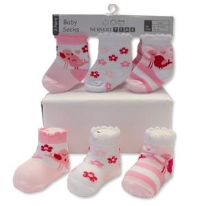Soft Touch Bebe Σετ 3 Τεμαχίων Κάλτσες Για Κορίτσια Birds, Ροζ