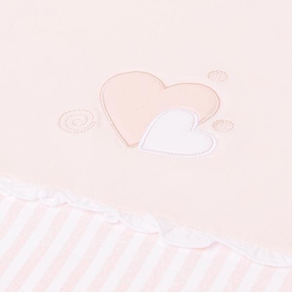 Mayoral Κουβέρτα Με Καρδιές baby, Ροζ