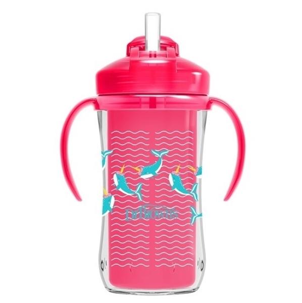 Dr. Brown's Κύπελλο Θερμός με Καλαμάκι 300 ml. Ροζ 12Μ+ Whale