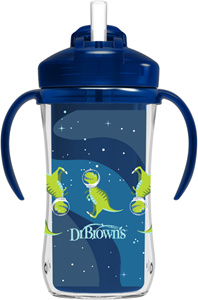 Dr. Brown's Κύπελλο Θερμός με Καλαμάκι 300 ml. Μπλε 12Μ+ Dino