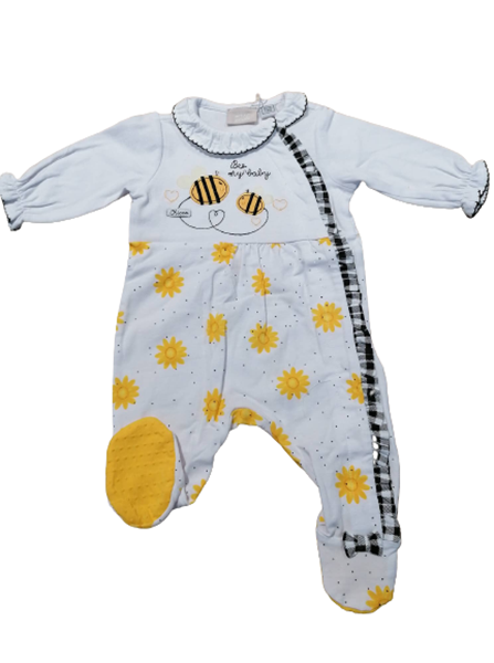 Chicco Εποχιακό Φορμάκι Για Νεογέννητο Κορίτσι Μέλισσες, Λευκό