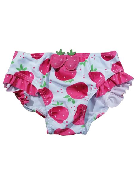 Chicco Bebe Μονοκίνι Μαγιώ Για Κορίτσι Φράουλες, Λευκό