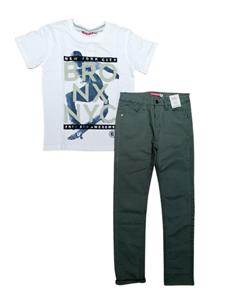 Energiers Σετ Παντελόνι Με Μπλούζα Για Αγόρι, Χακί