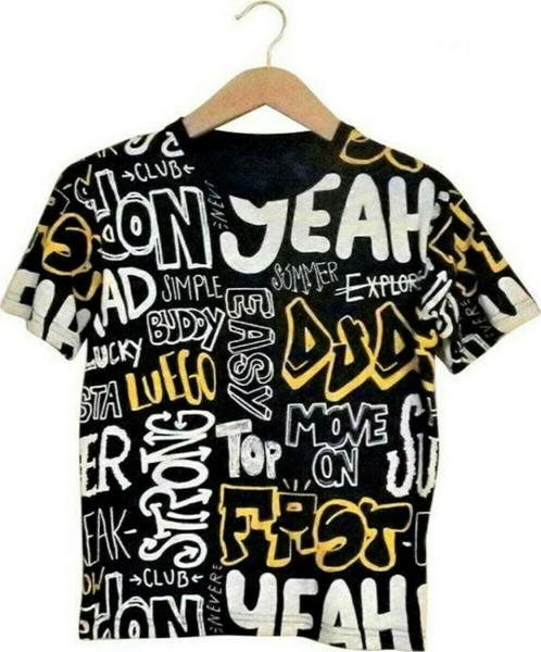 Hashtag Μπλούζα Κοντομάνικη Grafity Για Αγόρι, Μπλέ