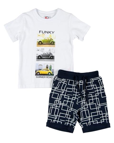 Funky Παιδικό Σετ Μακώ Βερμούδα Και Μπλούζα Cars, Μπλέ