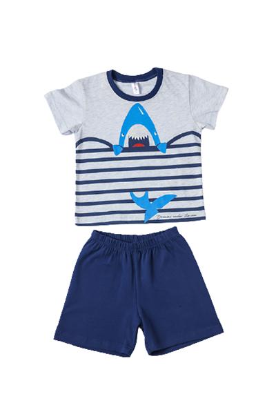 Dreams Παιδική Πυτζάμα Για Αγόρι Shark, Σιέλ