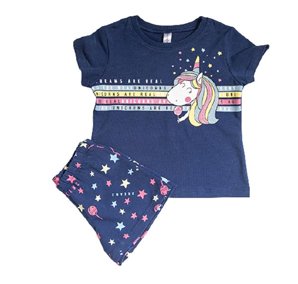 Dreams Παιδική Πυτζάμα Για Κορίτσι Unicorn, Μπλέ