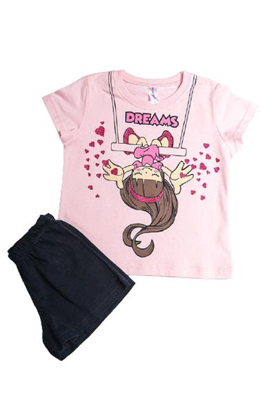 Dreams Παιδική Πυτζάμα Για Κορίτσι Κούνια, Ροζ
