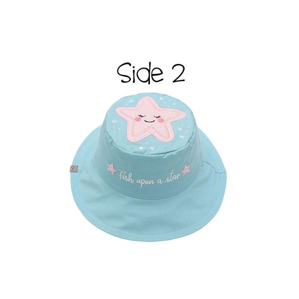 FlapJackKids Αντηλιακό Καπέλο Διπλής Όψης UPF 50+ Narwhal/Starfish (Cotton)