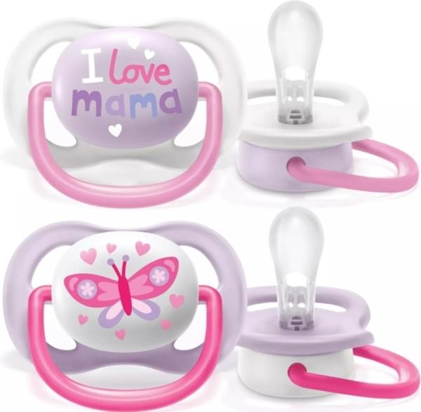 Philips Avent Πιπίλα Ultra Air, 0-6 μηνών+, Mama girl (2 τεμάχια)